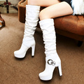 Korean Style Fashion Winter And Fall Sexy Women S Knee Boots Platform Thick Heels Knight High
