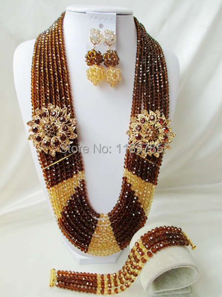 Big promotion Free Shipping African Wedding Jewelry Set Costume Nigerian  Crystal Beads Jewelry Set Wholesale NEW A-9925<br><br>Aliexpress