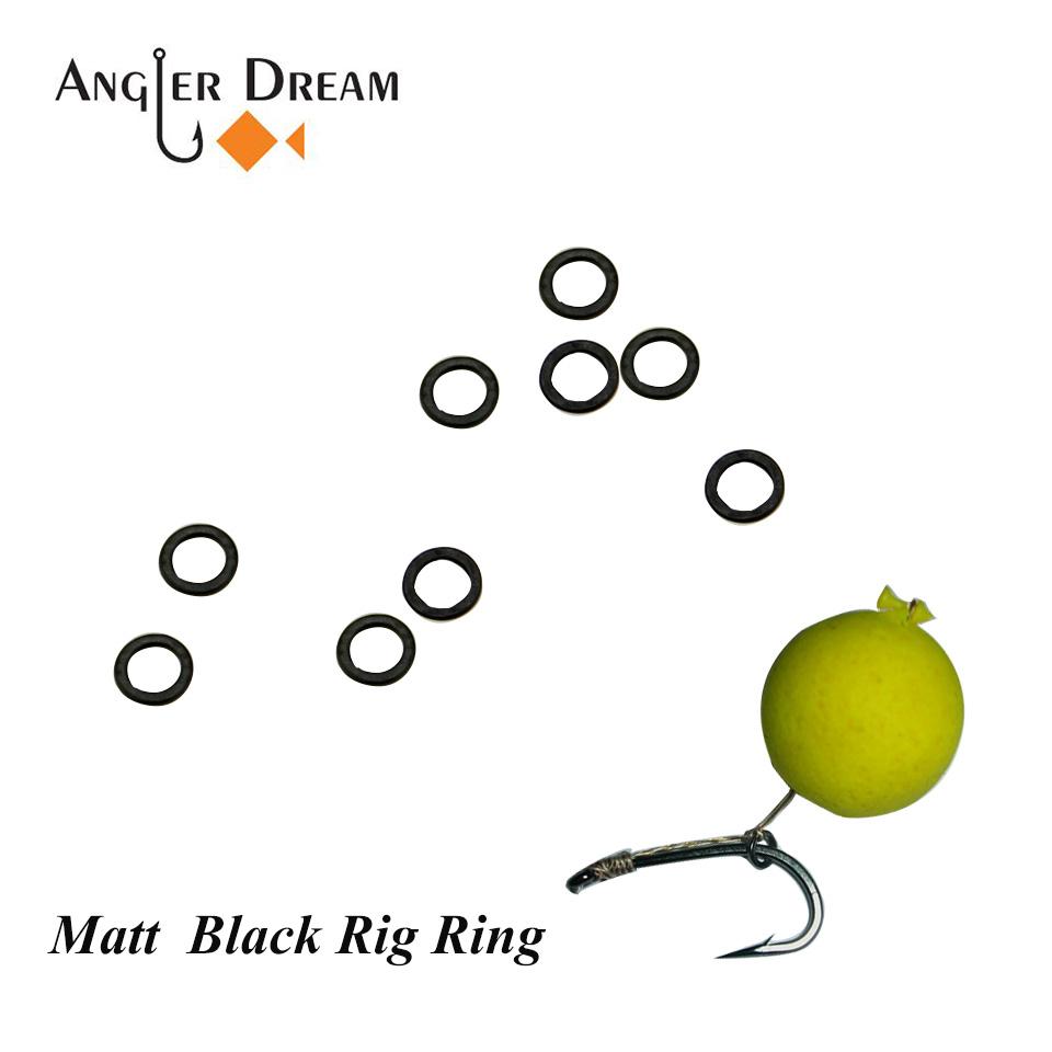 AnglerDream 50Pcs Carp Fishing Terminal Tackle Quick Change Matt Black Round Rig Rings Fishing Rigs O Rings 3.1MM(China (Mainland))