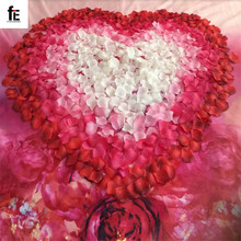 New 2016 free shipping Wholesale 1000pcs/lot Wedding Decorations Fashion Atificial Flowers Polyester Wedding Rose Petals(China (Mainland))