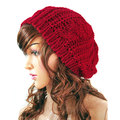Hot sale New Winter Women Hat Warm Knitted Crochet Slouch Baggy Beret Beanie Hat Cap For