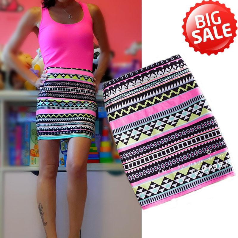 Sexy Tight Skirt Patterns Print Ethnic Skirt 2016 High Waist Pencil Skirts Womens Zipper Saia Summer Plus Size Women Clothing(China (Mainland))