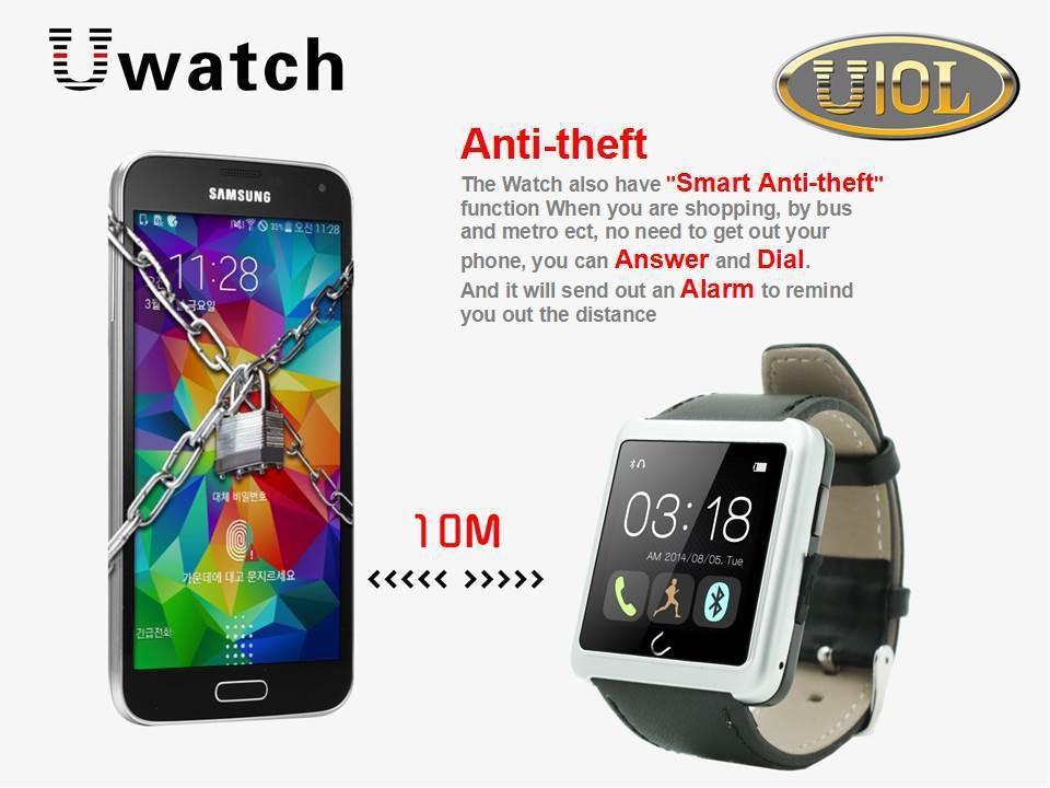 ถูก จัดส่งฟรี1.54นิ้วU10 Uดูสมาร์ทป้องกันการสูญเสียนาฬิกาบลูทูธนาฬิกาหุ่นยนต์มาร์ทกันน้ำสำหรับA Ndriod IPhoneมาร์ทโฟน