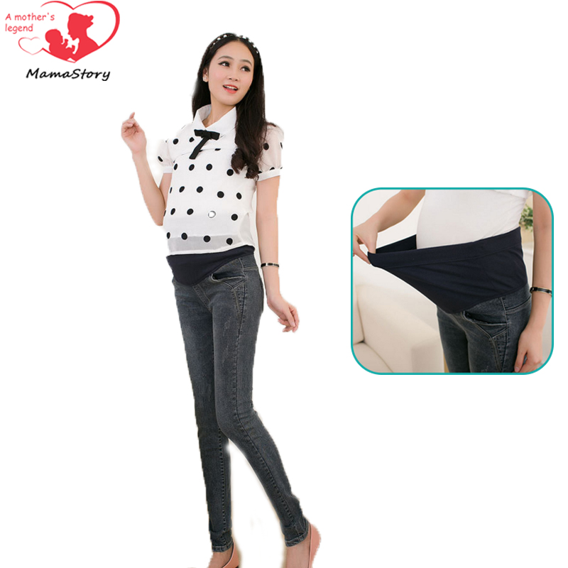 New Spring Maternity Jeans High Quality Cotton Trousers For Pregnant Women Denim Pregnant Jean Plus Size Maternity Pants clothes<br><br>Aliexpress