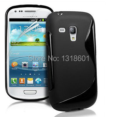 Free Shipping TPU Soft Silicone S Line Phone Case Cover For Samsung Galaxy S3 mini i8190(China (Mainland))