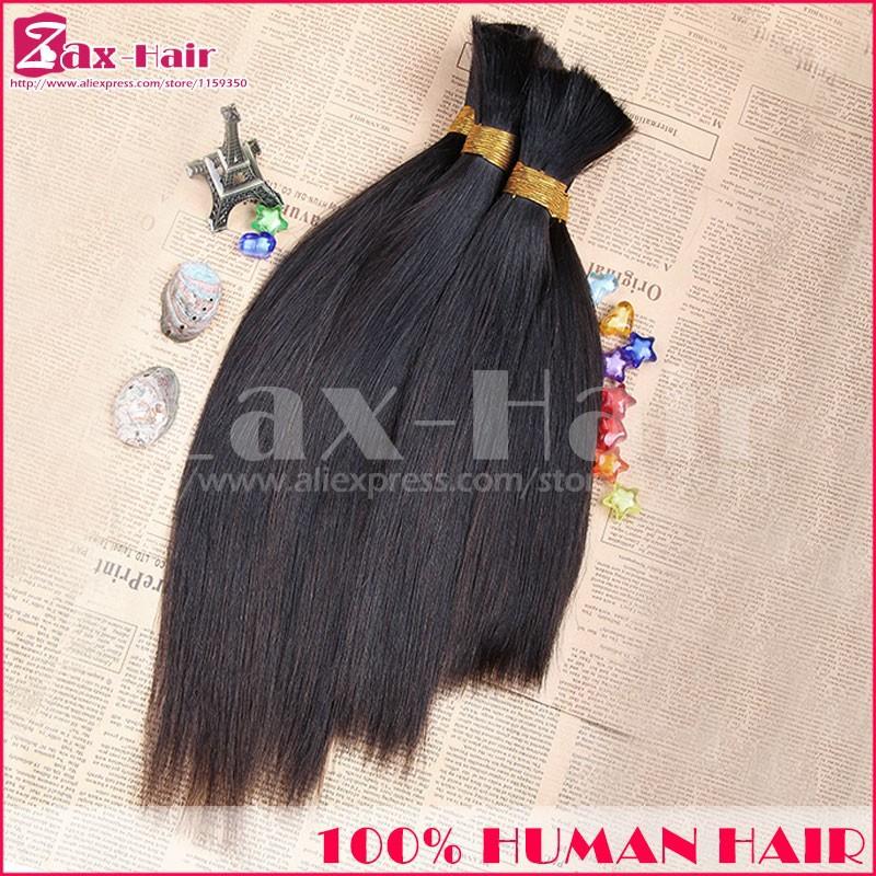 Customized Bulk Hair For Braiding Human Straight Bulk Human Hair For Braiding On Sale