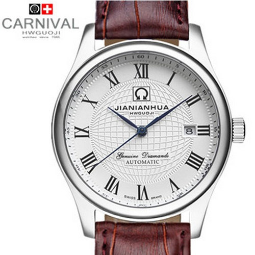 Free Shipping Carnival strap mens watch vintage table fully-automatic mechanical watch male watch waterproof mens watch