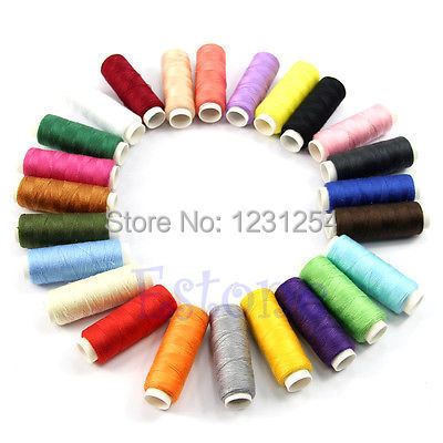Z101 New 24 Spools set Mixed Colors Polyester All Purpose Sewing Threads Cones Set Hot