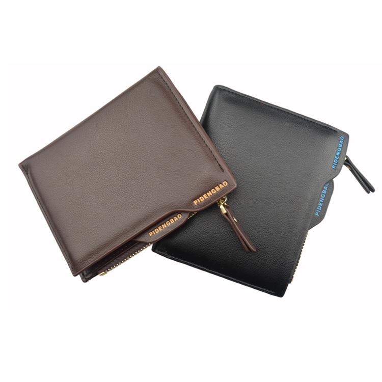 Pomotion! Men Leather Wallet Multifunctional Short Design Wallet Zipper Coin Purse Bag Card Holder,ZX-D1203-81(China (Mainland))
