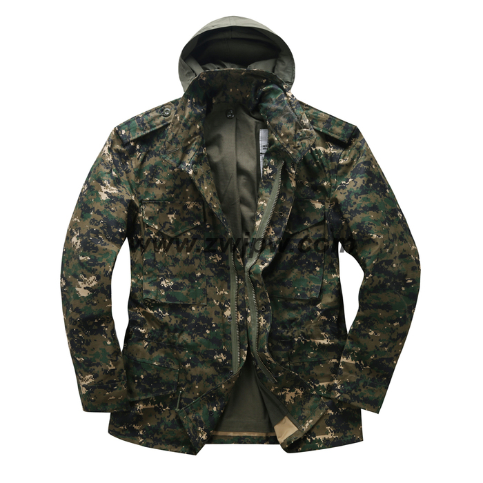 PARKA MENS Army Jacket CAMOUFLAGE M65 WINDBREAK MILITARY TACTICAL OUTDOOR Division JACKET COAT 150201(China (Mainland))