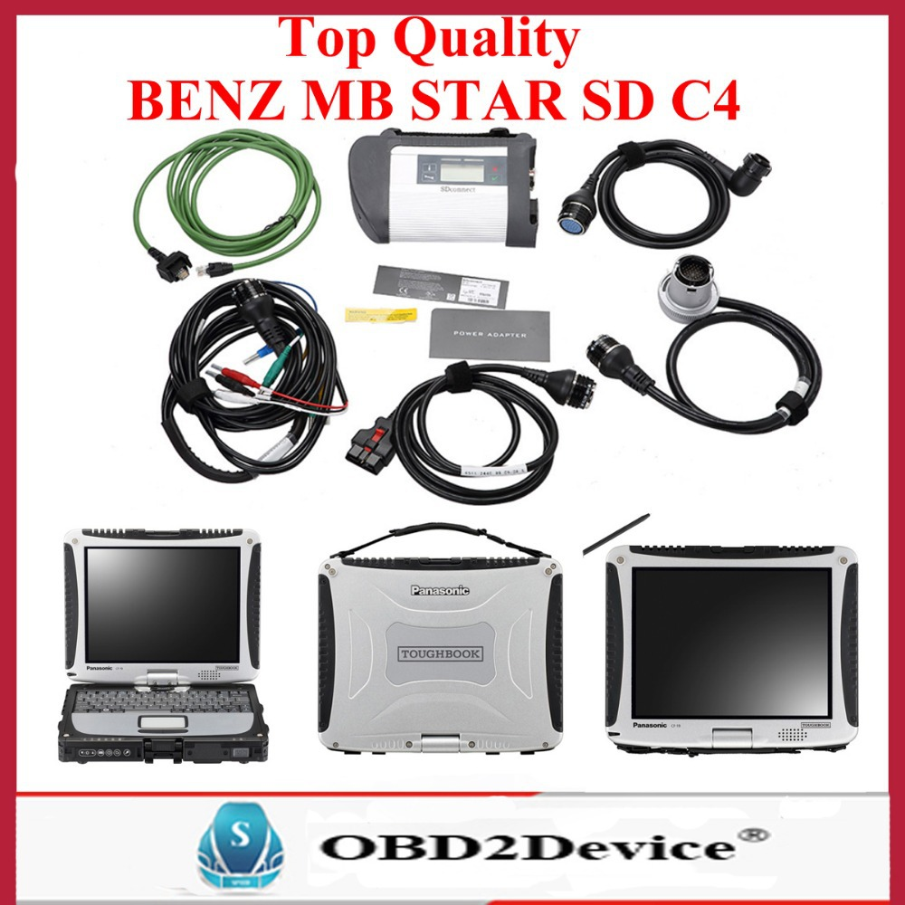 2016 Newest 2015.12 software For mercedes BENZ Diagnostic Tool mb star sd connect c4 with Wifi Function xentry diagnosis system(China (Mainland))