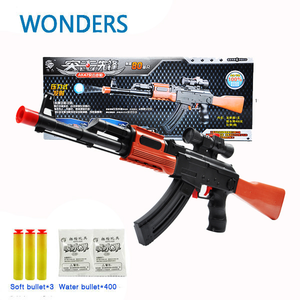 PAINTBALL GUN SOFT BULLET GUN PLASTIC TOY PISTOL AK47 CS GAME SHOOTING  WATER CRYSTAL GUN NERF
