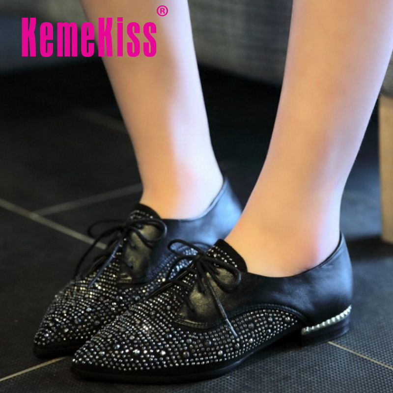 women real genuine leather party casual flats leisure shoes sexy fashion brand ladies shoes Zapatos Mujer size 34-39 R5989<br><br>Aliexpress