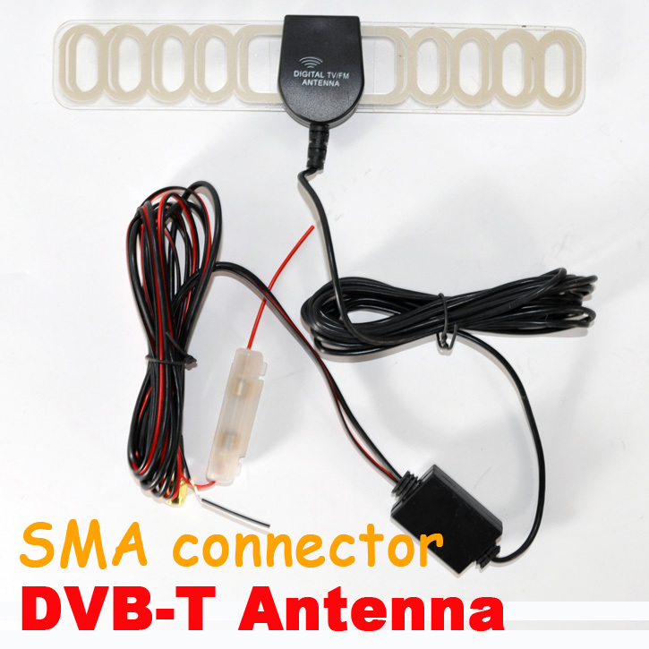 Car digital TV Antenna Aerial for DVB-T ATSC ISDB-T Receiver box with Built-in Amplifier+China post free shipping(China (Mainland))