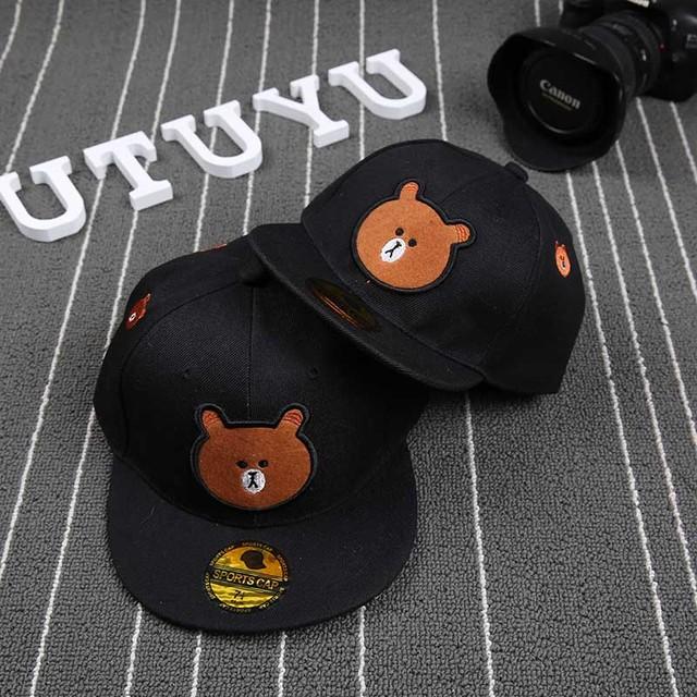 2016 новый черный медведь крышка регулируется марка бейсболки snapback шляпы для мужчин и женщин мода спортивные хип-хоп sun cap кость шляпа