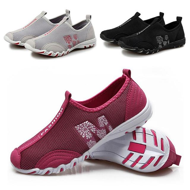 Лето леди спортивные прогулки мода Wemon свободного покроя обувь, Супер мягкий высокое ...