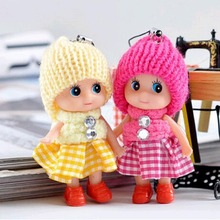 8cm Baby toys Baby dolls Interactive soft pendant Toys for girls Creative small gifts mini toy + Free Shipping