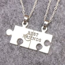Hot Sales Best friend necklace pendant friends friendship half a person Choker necklace BFF Puzzle Necklaces Jewelry Gift