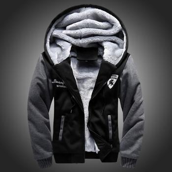 2015 новый шерсть лайнер капюшоном зима верхняя лоскутная теплый мужчины кофты Большой размер костюмы спортивная одежда для мужчин, Ca141