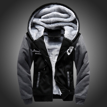 2016 New Wool Liner Men's Hooded Winter Outwear Patchwork Warm Men Sweatshirts Plus Size Tracksuit Sports Wear for Men, CA141(China (Mainland))