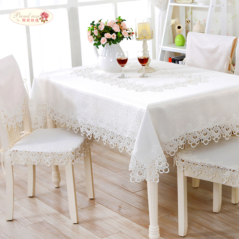 1 Piece European White Embroidered Round Tablecloth/ Pure Color Hollow Out Lace Tea Table Cloth/ Simple tablecloth free shipping(China (Mainland))