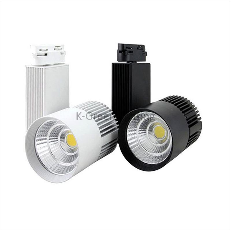 10X New design 30W 30degree COB LED track light with bridgelux chip AC 85-265V input express free shipping(China (Mainland))