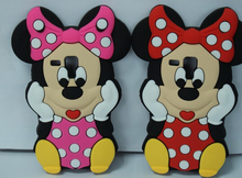 3D Cartoon Silicone Minion Mickey Minnie Mouse Cute Lilo Soft bowknot Case Cover Samsung Galaxy S Duos 7562 GT S7562 - Beauty( Shenzhen store Co., Ltd)