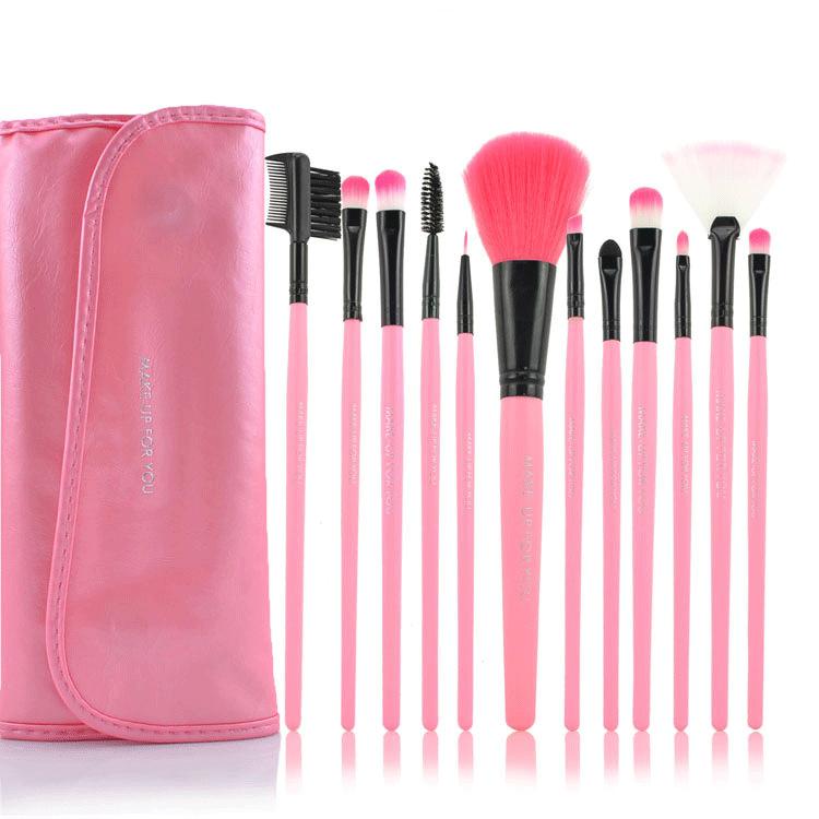 Make Up para você 12 conjunto Nylon cabelo pincel de maquiagem preta conjuntos