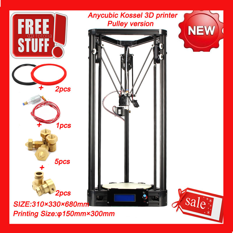ANYCUBIC Kossel Delta 3D Printer Kit Kossel Pulley Delta 3D Printer Version DIY Kit with J