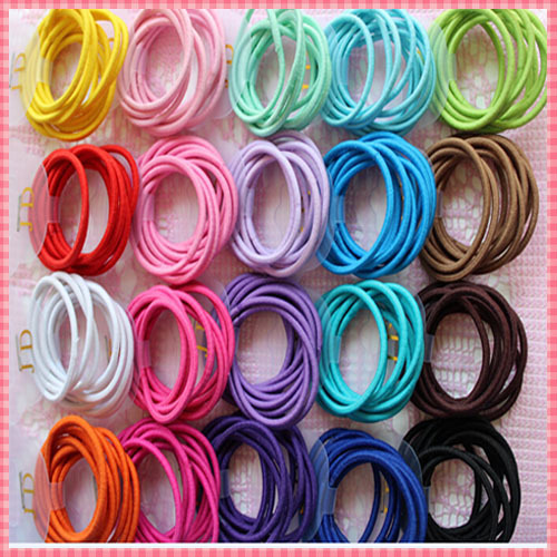 2015 Fashion elastic hair bands for women Candy Color baby girl kids headbands hair ropes headwear
