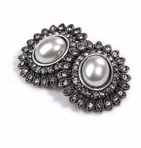 2016 Fashion Big Round Retro Pearl Rhinestones vintage jewelry Earrings Women india bohemian - Hello Bella store