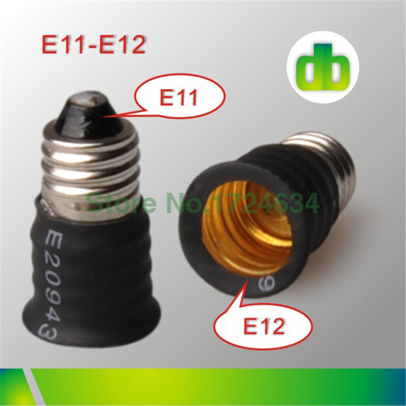 50pcs Black PE E11 to E12 /E12 to E11 lamp base Adapter For Led Light Made In China(China (Mainland))