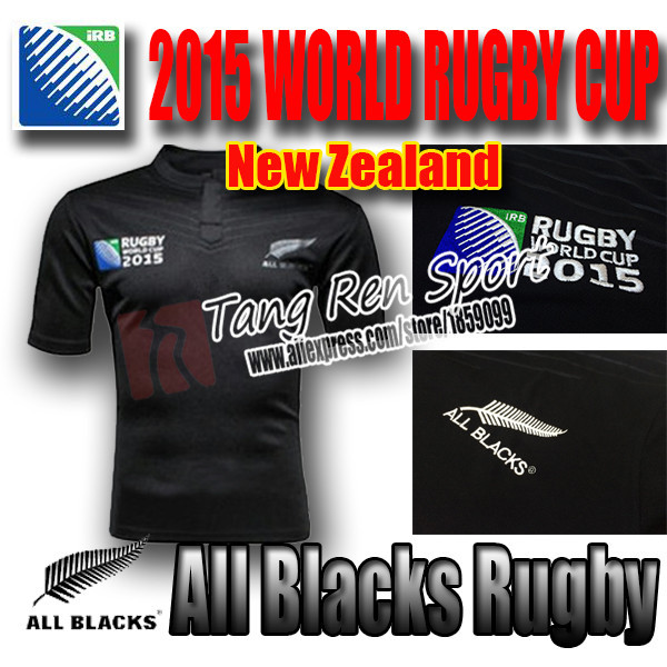 new zealand all blacks rwc rugby sevens short sleeve rugby shirt 2015 2016 men rugby jersey custom world cup football shirts(China (Mainland))
