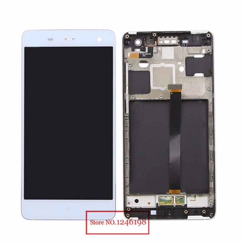 White Full LCD Display Touch Screen Digitizer Assembly with frame For Xiaomi M4 MI 4 Mi4 M 4 Mobile Phone Replacement Parts