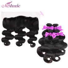 13x4 Ear to Ear Lace Frontal Closure With Bundles Cheap 8A Body Wave Virgin Brazilian 3 Bundles Human Hair Weft With Frontal(China (Mainland))