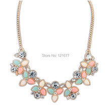 2015 New Fashion Brand Designer Chain Choker Vintage Rhinestone Necklace Bib Statement Necklaces & Pendants Women Jewelry N0300(China (Mainland))