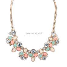 2014 New Fashion Brand Designer Chain Choker Vintage Rhinestone Necklace Bib Statement Necklaces & Pendants Women Jewelry N0300