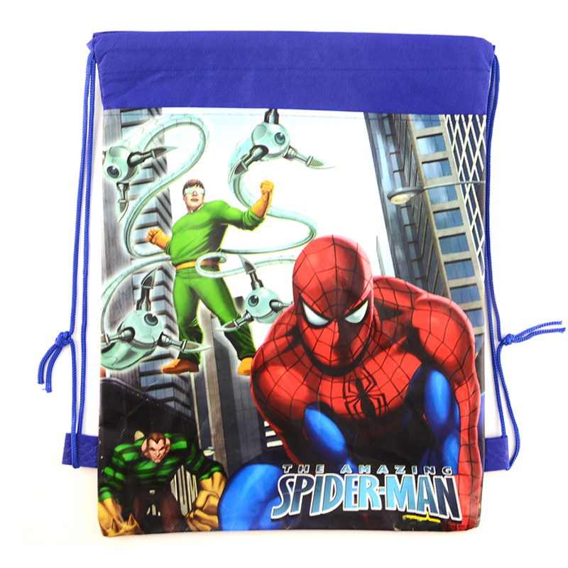 1pic spider-man children School Bags cartoon Drawstring Bag sports shoulder swim outdoor backpacks Kids Drawstring Backpack(China (Mainland))