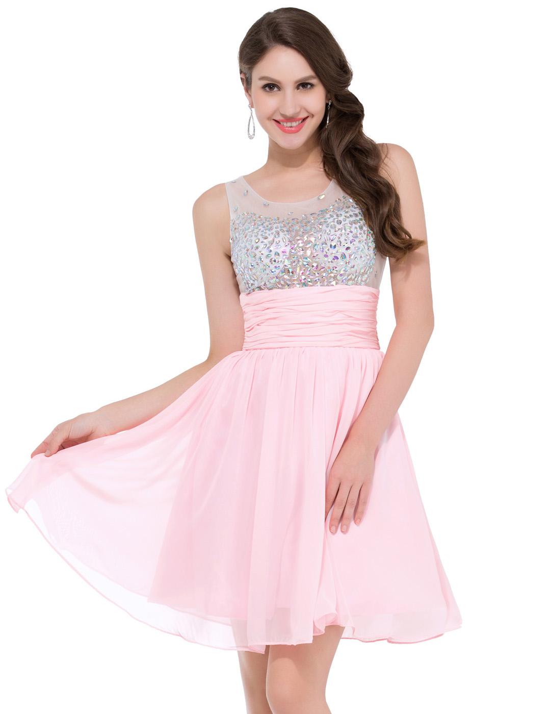 Short Pink Cocktail Dresses | Beatific Bride
