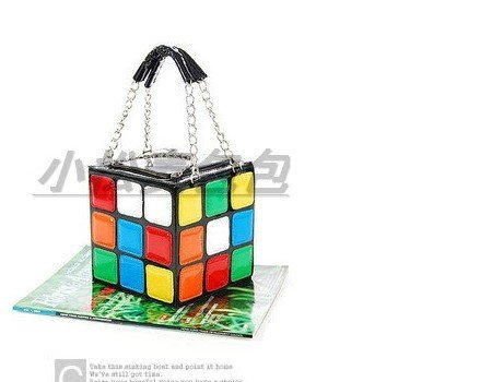 FREE SHIPPING 2014 HOTSALE Fashion brand women/lady's  Cute magic cube handbags/totes