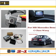 Car Rear Camera + 4.3 inch TFT LCD Screen Monitor = 2 1 Back Parking System - MB Mercedes Benz C Class W203 5D 2001~2007 Xi DaDa Store store
