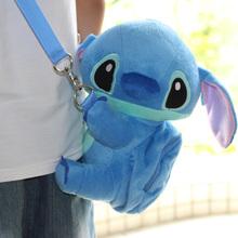 candice guo! super cute plush toy cartoon Stitch Rilakkuma crossbody bag small coin bag hug hug creative children gift 1pc(China (Mainland))