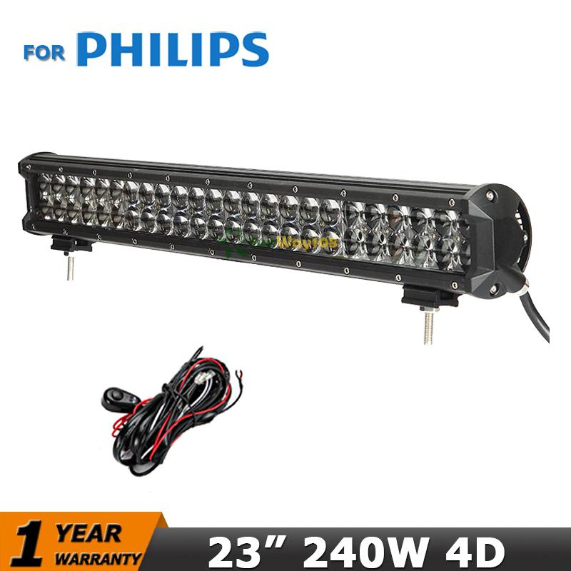 23 inch 240W Car Led offroad light bar For Philips Combo Beam 12V 24V Truck ATV SUV UTV Pickup Tractor 4WD 4x4 Led Bar Light(China (Mainland))