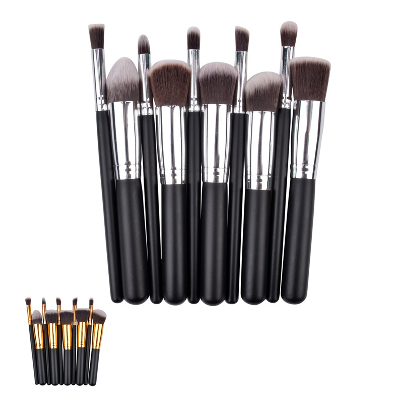 Fashion Professional Makeup Brush Set 10pcs Beauty Foundation Blush Eyeshadow Comestic Facial Makeup Brushes Kit Maquiagem MAT15(China (Mainland))