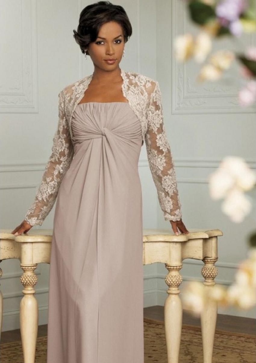 Buy elegant vintage floor length chiffon for Wedding dress for mother of the groom