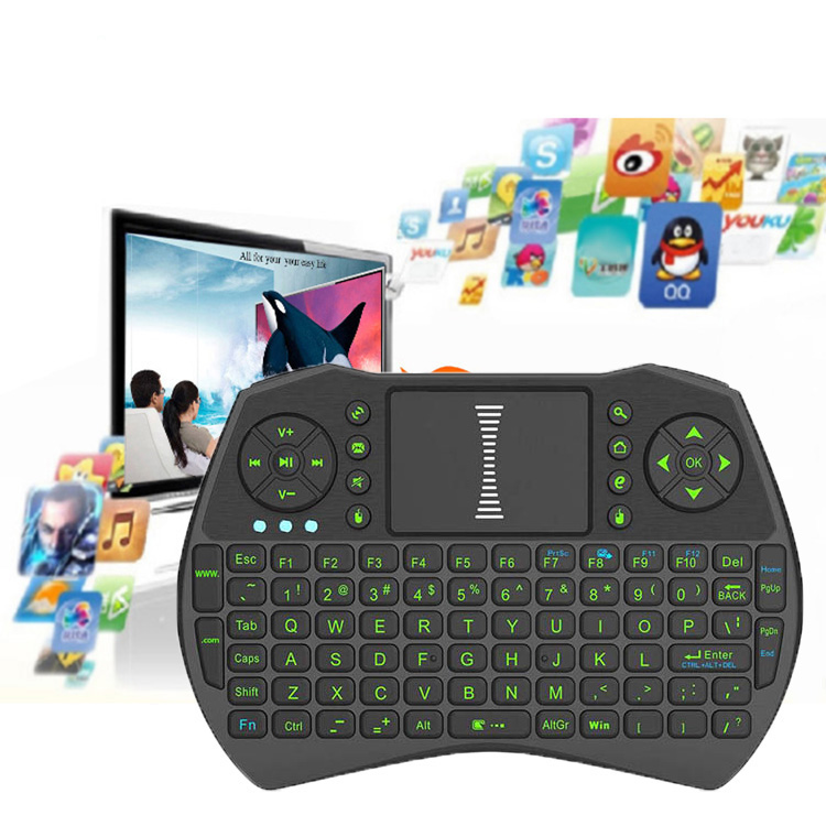 I9 Mini 2.4GHz Wireless Touchpad Mouse with Keyboard for PC, PAD, Google Android TV Box, HTPC, IPTV Color Black(China (Mainland))