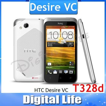 Desire VC Original HTC Desire VC T328d Android GPS WIFI 4.0''TouchScreen 5MP camera Dual SIM Unlocked Cell Phone Free Shipping