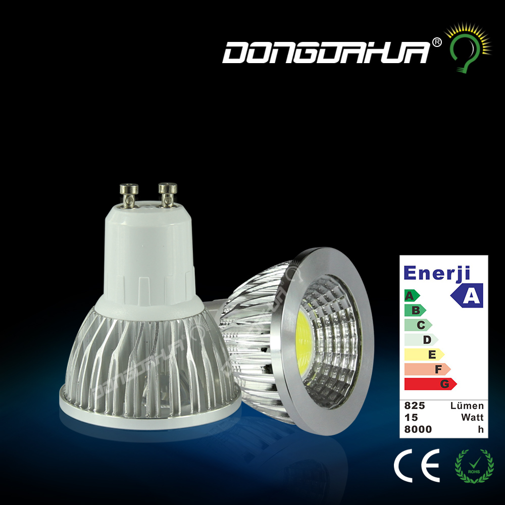 LED cup COB spotlight 220V GU10 GU5.3 MR16 pin screw Replace the old version of halogen lamp Wide voltage input design led bulb(China (Mainland))