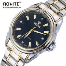 Automatic Winding Mechanical Watches Men Luxury Brand Full Steel Skeleton Men Hours Calendar Waterproof Wrist Watch For Men 0184