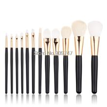 Hot Selling 12Pcs Blending Makeup Brush Kit Professional Cosmetic Goat Hair Brush Set Make up Brushes Tools beauty brush